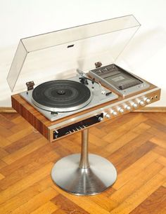 60s 70s Vtg Wood Toshiba 3200 Music Centre Record Player Turntable Braun Design