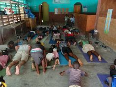 Mindful yoga practice in Haiti Mindful Yoga, Volunteers Around The World, Haiti, Around The Worlds, Peace, Country, Learning, Rural Area, Studying