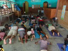 Mindful yoga practice in Haiti Mindful Yoga, Volunteers Around The World, Haiti, Around The Worlds, Peace, Learning, Studying, Teaching, Education