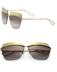 726b740ad9183 Dior Metallic 53mm Square Sunglasses - Lyst Dior Sunglasses