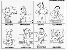 Activity Sheets For Kids, Activities For Kids, Community Helpers Worksheets, Community Workers, Sunday School Crafts, Social Science, Childhood Education, Learning Spanish, Raising Kids