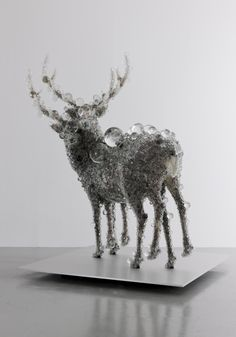 Glass Pixel Sculptures by Kohei NAWA, Japan