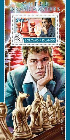 Post stamp Solomon Islands SLM 15315 bChess Grandmasters (Viswanathan Anand)