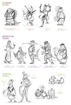 Character Design by Leah Fuhrman, via Behance