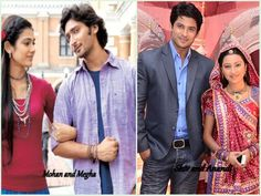 Celebrating the Month of ♥  Which is your favourite couple on Colors? Mohan & Megha and Shiv & Anandi