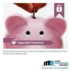 Empieza a ahorrar desde hoy para tu retiro y tendrás un retiro económicamente estable. #SeguridadFinaciera