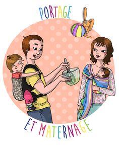 Logo portage et maternage