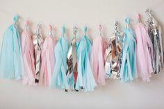 Cinderella Tassel Garland! Great for Disney Princess birthday party theme, nursery decor, children's room decor!