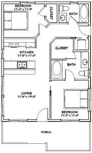 400 sq ft apartment floor plan - Google Search | 400 sq ft ...