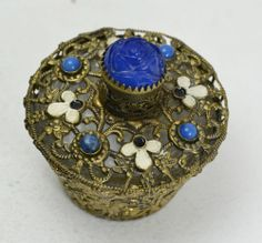 Antique Art Deco miniature perfume bottle - most likely Irice.