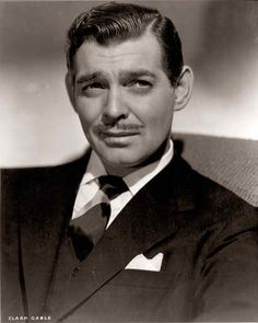 Clark Gable, I don't care if you didn't have real teeth.  We'd be married were you alive and near to my age.