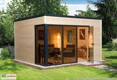 Abri de jardin en bois habitable. Pas de besoin de permis de construire pour agrandir à moindre coût votre habitation.