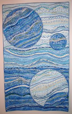 Art quilt by Mary 2017 Inspiration from Stupendous Stitching