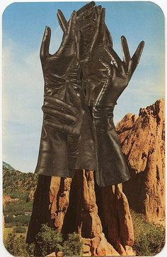 Garden of the Gloves, 2011.  Collage by Angelica Paez.: