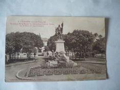 1.CONAKRY GUINEE FRANCAISE MONUMENT DE LA STATUE DU GOUVERNEUR GENERAL BALLAY SUR LA PLACE CPA VOIR PHOTOS