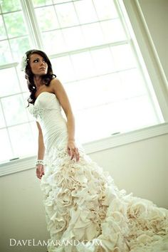 If I could go back, this is the dress I would get for my wedding...no veil...love the flowers