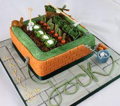 Gardener/builder cake