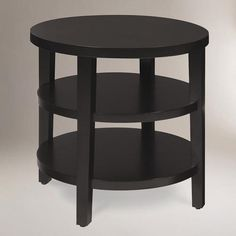 From WorldMarket.com: Round Porter End Table