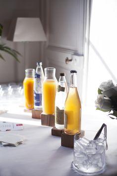 Cocktail déjeunatoire - mariage - boissons - jus frais - parisien - traiteur - mariage à domicile - original - sur-mesure - coloré - Paris