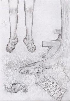 Bilder Sad Sketches, Sad Drawings, Drawing Sketches, Pencil Drawings, Drawing Ideas, Drawing Drawing, Depression Art, Sketch Style, Feelings