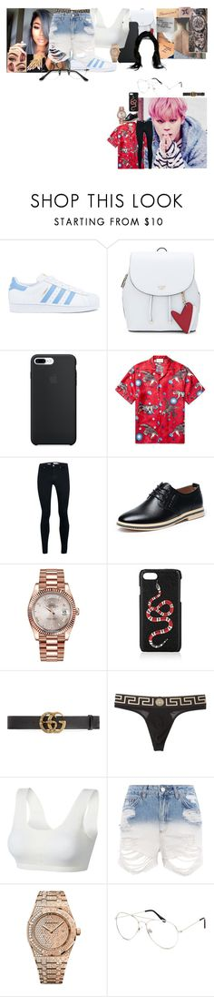 """Sin"" by teylorann ❤ liked on Polyvore featuring Disney, adidas, Hello Darling, Gucci, Topman, Rolex, Versace, Topshop, Audemars Piguet and Blue Crown"