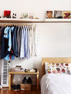 Kleiderschrank Ideen · Teenager Schlafzimmer · Kleiderständer · Wesoły Dom