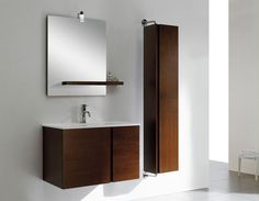 Wall Mounted Bathroom Vanity Caleb 40 Inch Modern Cabinets