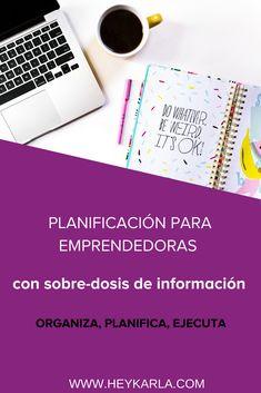 ORGANIZA, PLANIFICA Y EJECUTA #PLANIFICACIÓN #PLANDEACCIÓN #planner