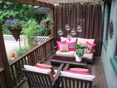 DIY Outdoor Wood Bench | Outdoor benches, Patio and Net curtains