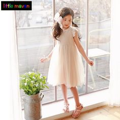 3-12Yrs Baby Girls Princess Dresses Summer Grace Weding Party Prom Dress Fashion Casual Children Teens Bebe Baby Kids Clothes