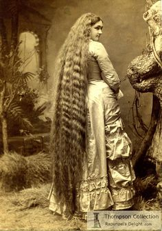 1870s floor-length hair