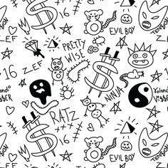 zef Coffee Mug by Emmamaja - 11 oz Pretty Tattoos, Cute Tattoos, Tattoo Sketches, Tattoo Drawings, Spider Web Tattoo, Stick Poke Tattoo, Grunge Tattoo, Notebook Doodles, Skeleton Tattoos