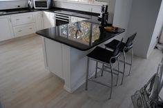 White Kitchen Kitchen Island, Kitchens, Table, Furniture, Home Decor, Island Kitchen, Decoration Home, Room Decor, Kitchen