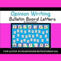 """Opinion Writing Bulletin Board Letters --- This resource comes in color and black and white letters. These letters go perfectly on a bulletin board displaying opinion writing by students. There are four letters on each page which spell out """"Opinion Writing."""" The letters are on cute pencil graphics."""