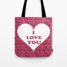 I Love You, My Love, Reusable Tote Bags, Collections, Rose, Stuff To Buy, Te Amo, Pink, Je T'aime