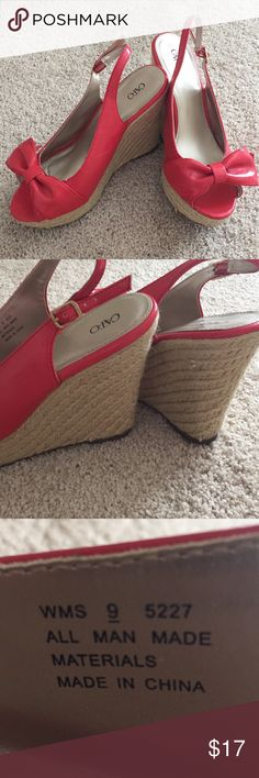 Spring wedges from Cato I wore them once for graduation. Size 9, coral wedges. Shoes Wedges
