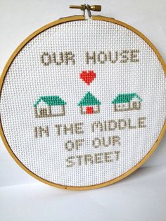 Embroidery Hoop Art Music Lyrics Our House in the by GraceyMay, $38.00