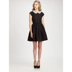 Kate Spade Black Kimberly Dress found on Polyvore featuring women's fashion, dresses, kate spade dresses and kate spade