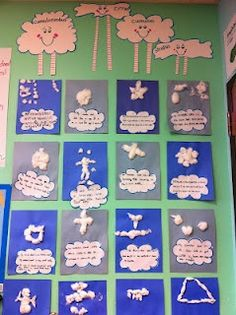 After reading Little Cloud by Eric Carle have students use their imagination to create a cotton ball cloud.