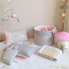 décoration chambre enfant bébé fille princesse conte de fée doré ...