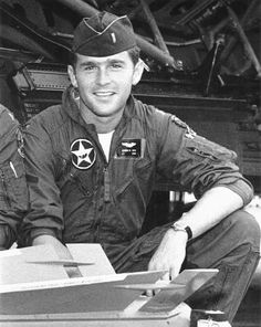 George W. Bush. He performed Air National Guard duty as an F-102 pilot through April 1972, logging a total of 336 flight hours.