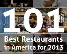 101 Best Restaurants in America for 2013