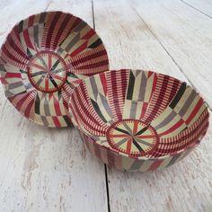 Papier-mâché Mini Bowl - Tribal Print Red