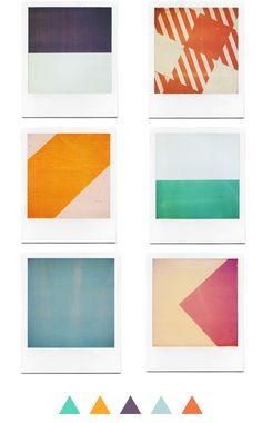 Polaroids by Grant Hamilton (via Design for Mankind) #GrantHamilton #polaroid #geometric