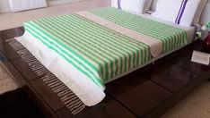 118x78 Moroccan Cotton Blankets Woven By Hand /