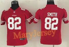 fe4ec7a9a Nike Torrey Smith Red Team Color Youth Stitched NFL Elite Jersey And Taco  Charlton 97 jersey
