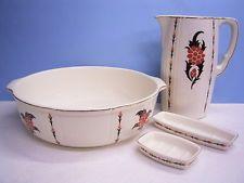 Art Deco mytí nádobí s dekoračními: Villeroy & Boch až 1910/20: čtyřčlenná