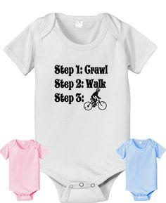 Bicycle bike steps crawl walk infant baby by CustomTeesForTots, $14.25
