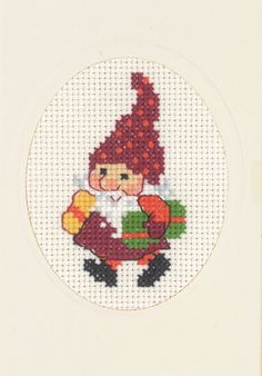 Cross Stitch Christmas Cards, Xmas Cross Stitch, Cross Stitch Cards, Cross Stitch Kits, Cross Stitching, Cross Stitch Patterns, Christmas Tree Pattern, Christmas Fairy, Embroidery Applique
