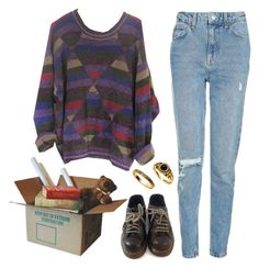 """moving day"" by unpleasantunicorn on Polyvore featuring Topshop and Dr. Martens"